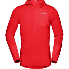 Norrøna M's Bitihorn Warm1 Stretch Hoodie Tasty Red
